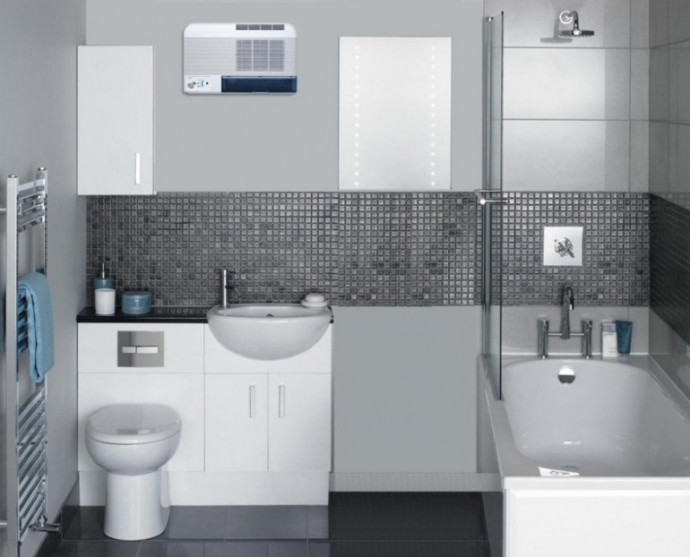 Dehumidifier for bathroom without vent