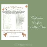 September Scripture Writing – Sound Words