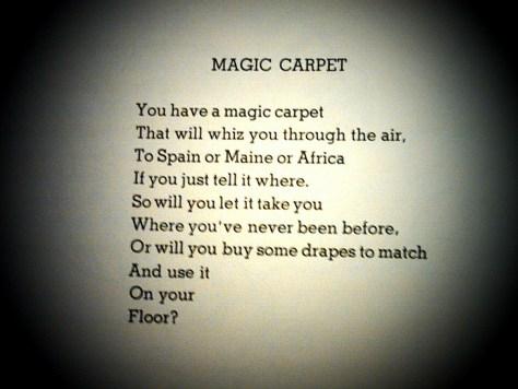Magic Carpet Poem