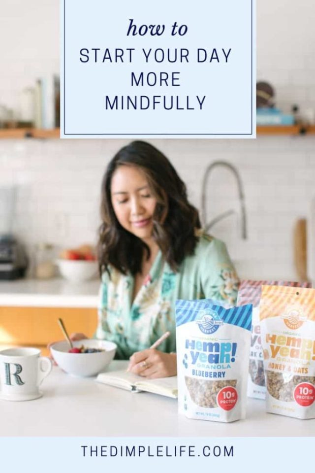 How to create a mindful morning   Learn some simple ways to add mindfulness and self care practices into your morning routine. It doesn't have to be a burden or complicated, and it will make such a difference to your stress levels, mental health and overall wellbeing.   The Dimple Life #thedimplelife #selfcare #mentalhealth #stress