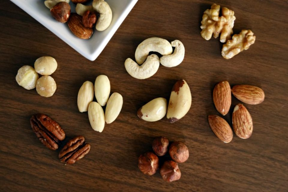 Nuts on Brown Surface