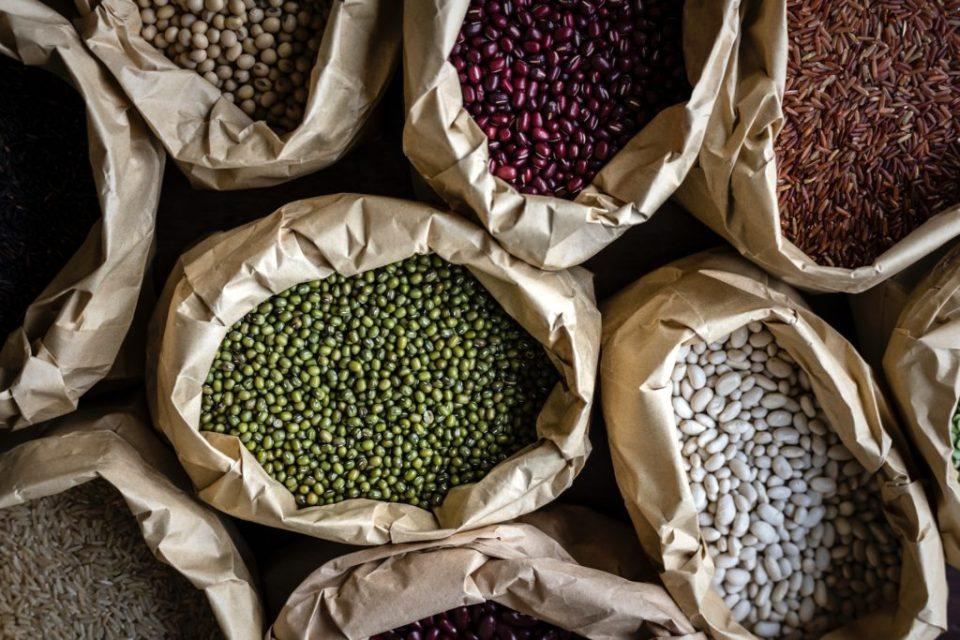 Assorted Bean in Brown Sacks