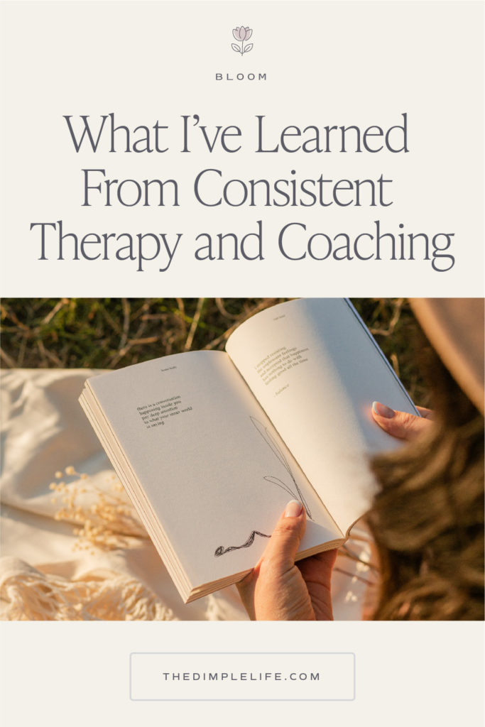 Let's break the stigma with therapy and coaching. I'm sharing the top lessons I've learned through a year of therapy, coaching, and all the self help. #Therapy #MentalHealthMatters #MentalHealthAwareness #TheDimpleLife