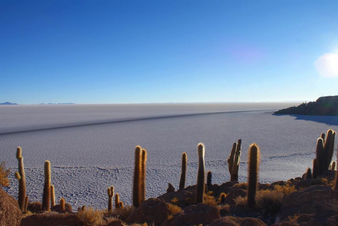 View out over the salt flats