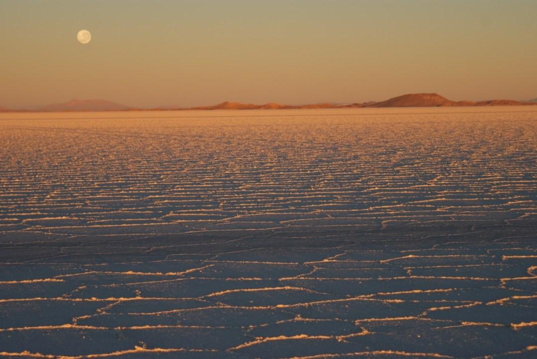 Sunrise on the Salar de Uyuni