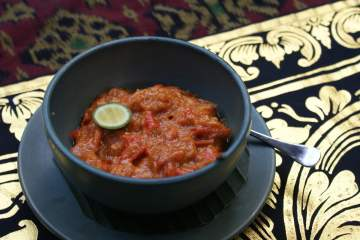 Indonesian Food Recipes - Tomato and Chilli Sambal