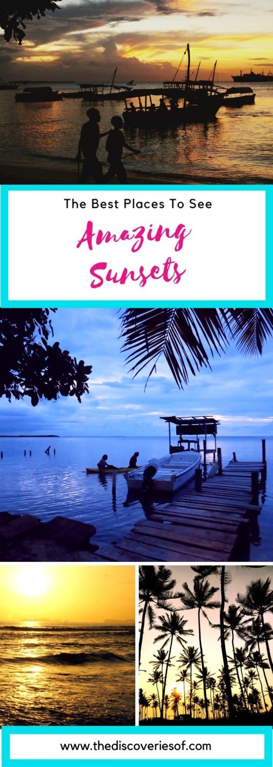 Beautiful sunsets around the world. Looking for travel inspiration? These mindblowingly beautiful travel destinations might help you out.