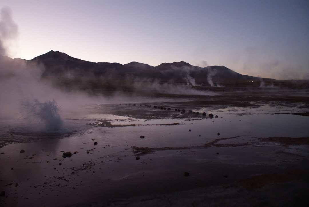 Sunrise at El Tatio Geysers, Atacama Desert
