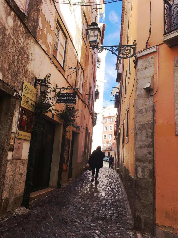 Cobbled Streets in Alfama, Lisbon
