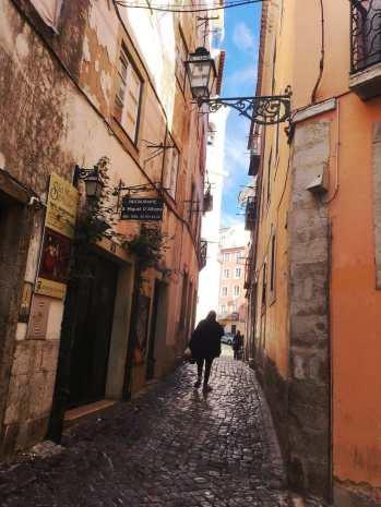 Cobbled Streets in Alfama, Lisbon