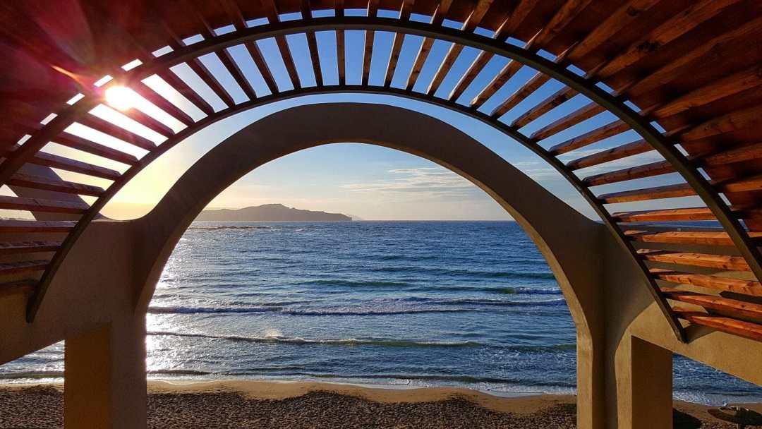 Sunset at Domes Noruz Chania Crete Luxury Hotel