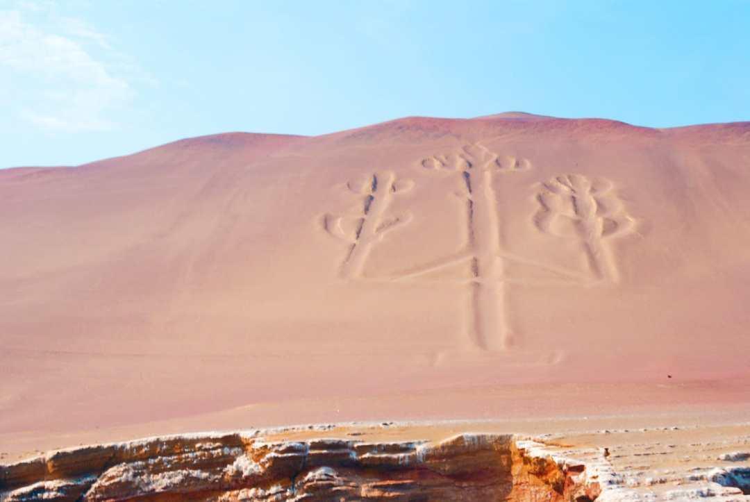 Candelabra Geoglyph, Peru on our trip to the Ballestas Islands