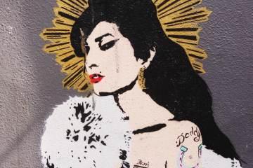 Amy Winehouse Street Art Pegasus Camden