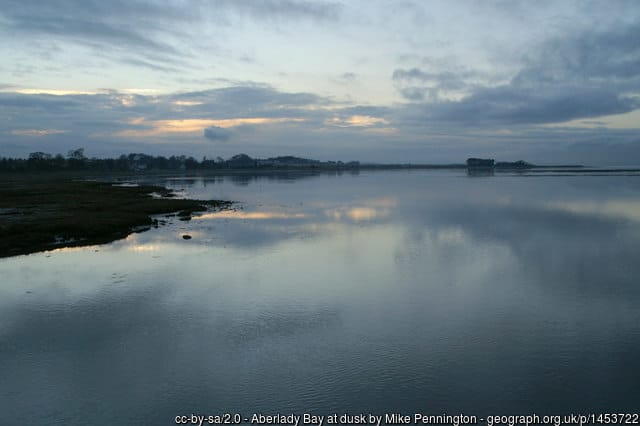 Aberlady Bay in Scotland
