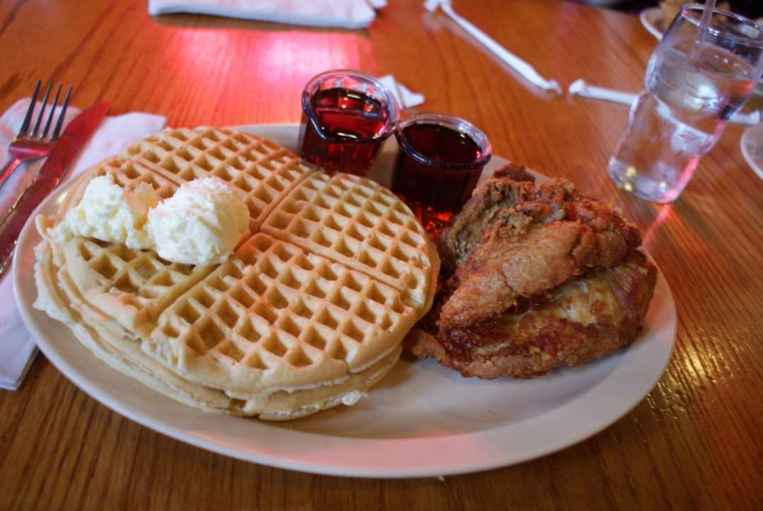 Chicken and Waffles at Roscoe's LA - one of the coolest places in Los Angeles