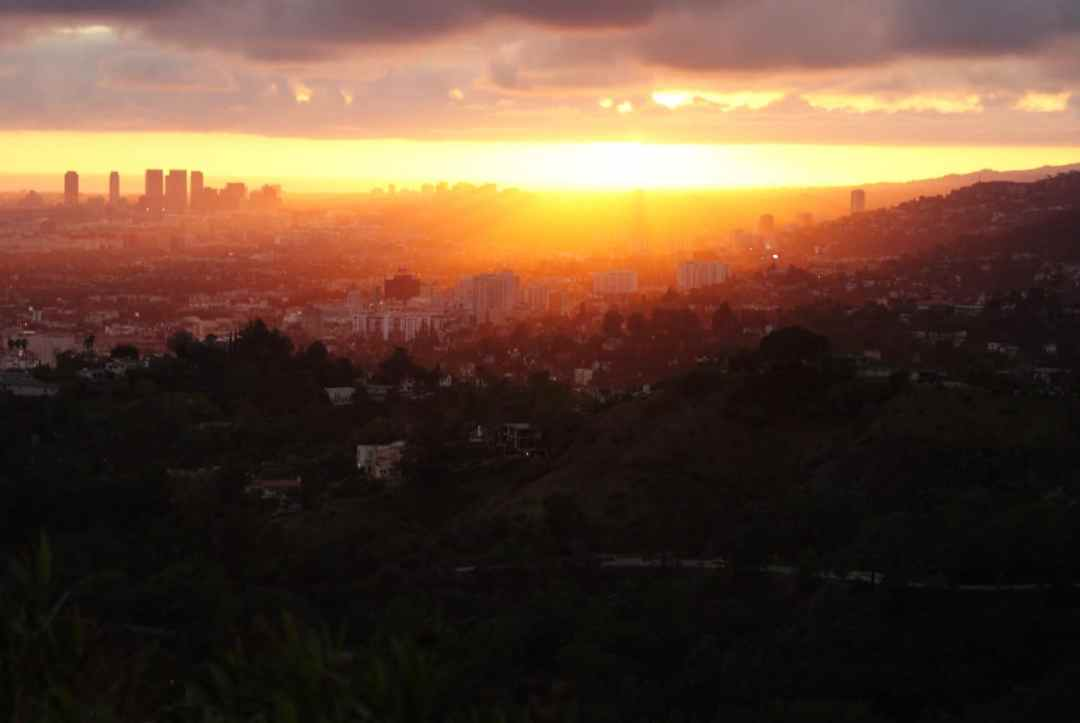 Sunset over LA from Griffith Park