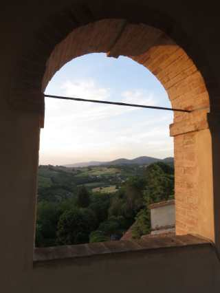 View from the bell tower, Santi Terzi