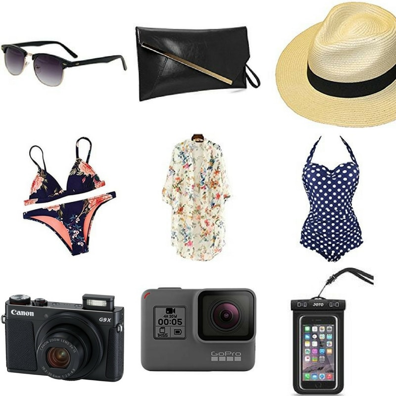Summer vacation packing list.