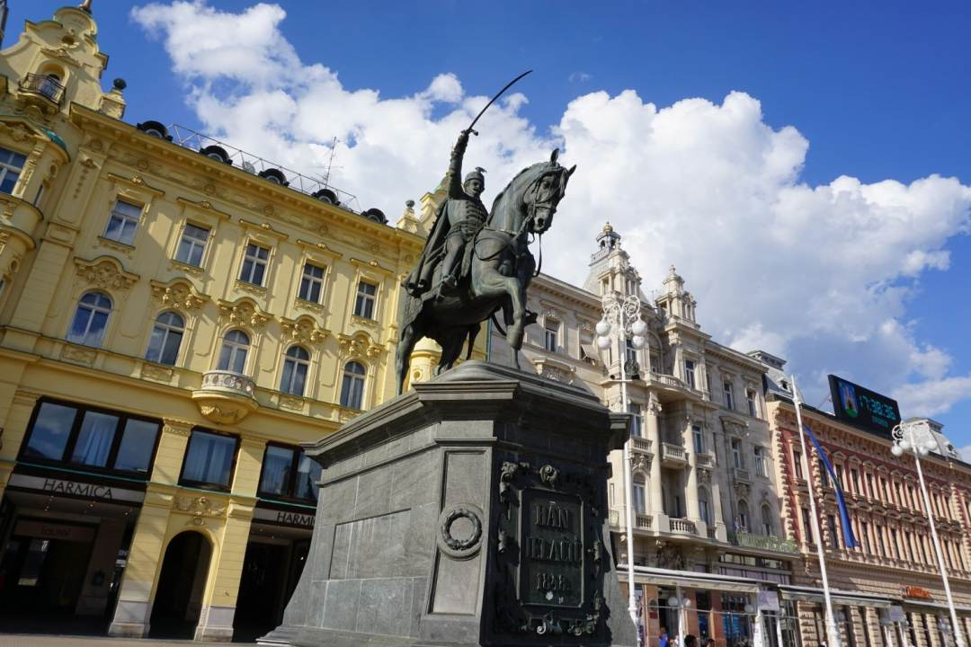Ban Jelačić Square - one of the highlights of what to see in one day in Zagreb.