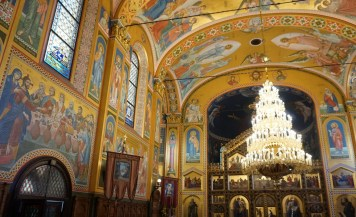 The fabulous interior of the church of the holy transfiguration - a must see in Zagreb