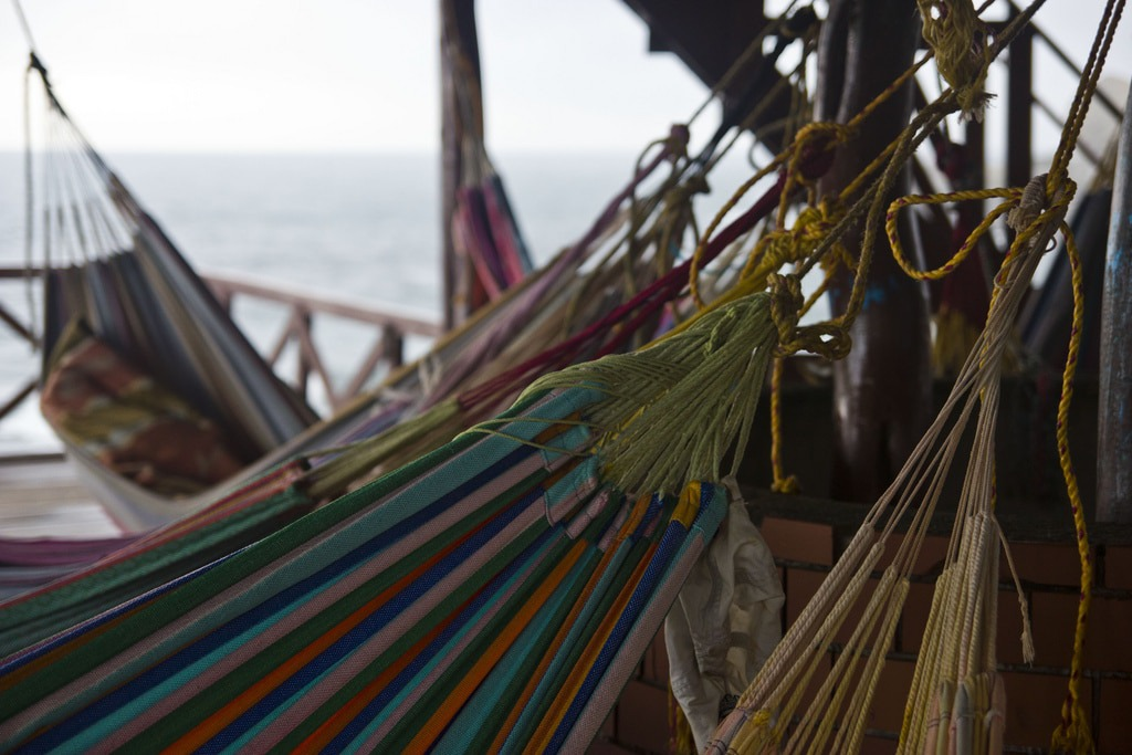 Hammocks at Cabo San Juan in Tayrona National Park, Colombia. The perfect beach destination in South America. Read more.