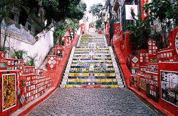 escadaria in Rio de janeiro. Famous Landmarks in Brazil