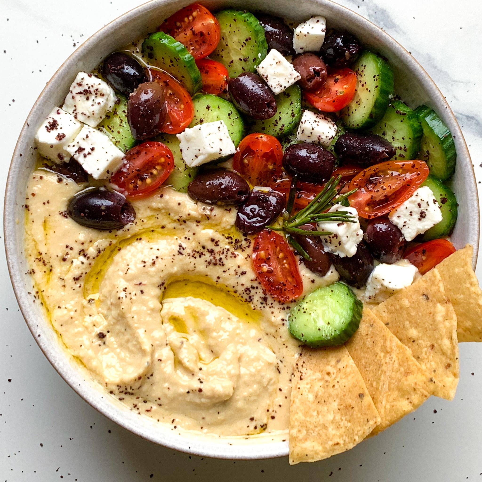 Greek Salad Hummus The Dish On Healthy