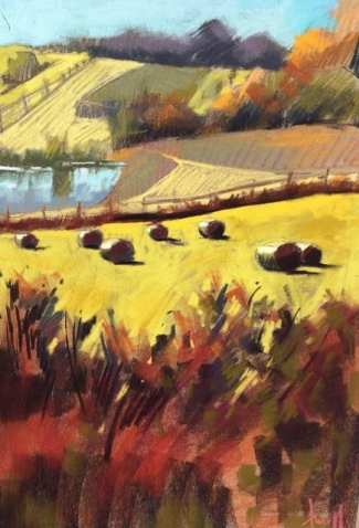 Lucky Hill Farm, pastel on paper, 17 x 24 inches