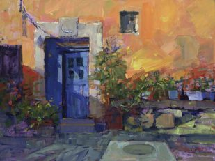 Bill Suttles, The Blue Door, oil on panel, 12 x 16 in.