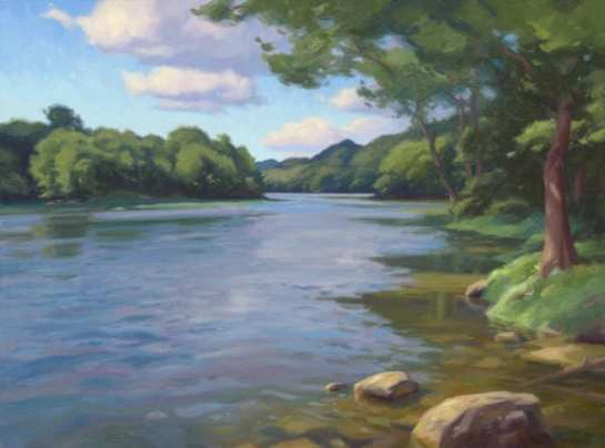 Caney Fork Drifting, oil on linen, 28 x 30 inches