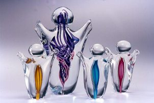 hand blown glass figures