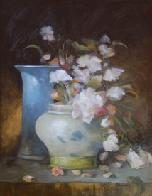 Nancy Lloyd-Hooker, Spring Pick, oil on panel, 14 x 11 in.