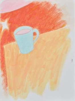 Still Life with Coffee and Moon