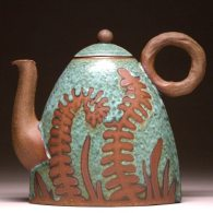 green fern tea kettle