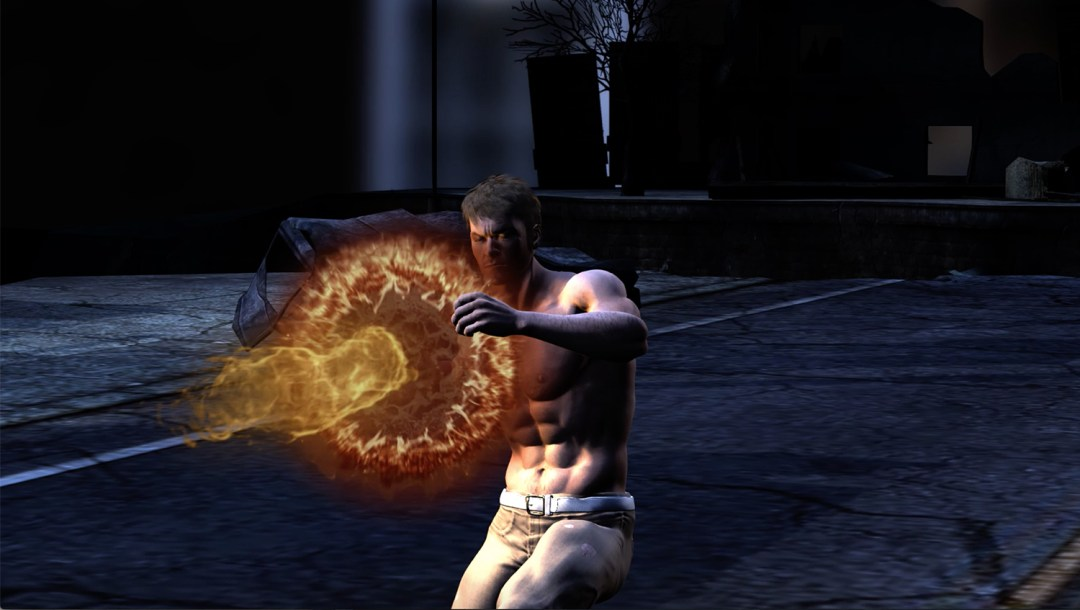 larger image of magic character creating fire