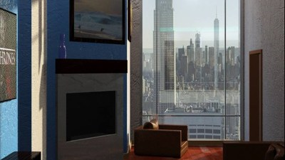 living room in New York with window view