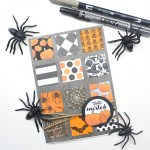 How to Create a Quick and Simple Halloween Card www.thediyday.com @thediyday