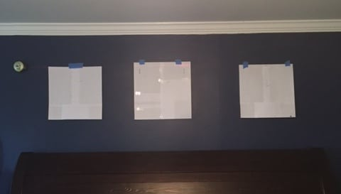 hang the paper where you would hang the decor