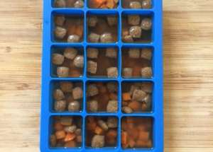 dog popsicles - pour into ice cube tray