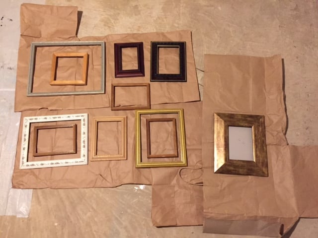how to spray paint picture frames