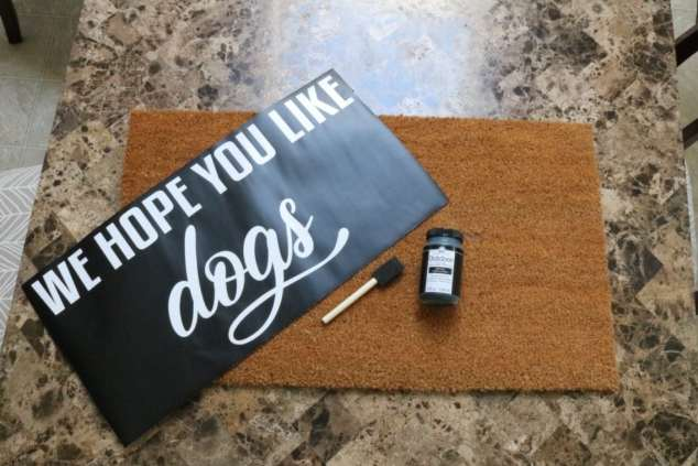 how to make a welcome mat materials