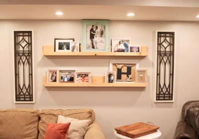 floating picture ledge shelves