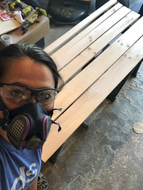 kristin and the wood for floating shelves