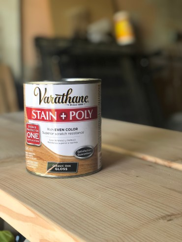 varathane stain and poly