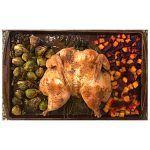 Roasted Chicken with Beets, Butternut Squash, and Brussel Sprouts