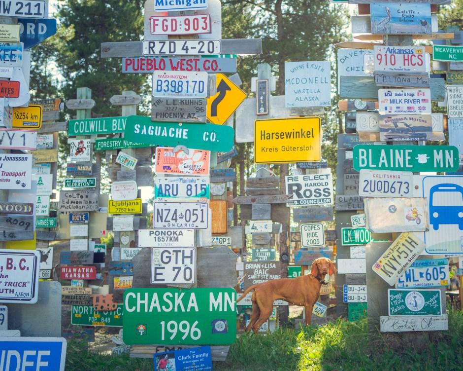 Signpost Alley in Watson Lake, Yukon