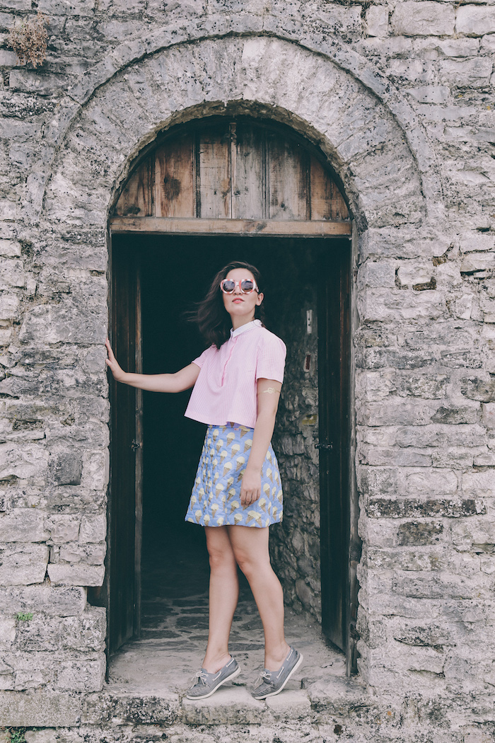 Blugilr Follies icecream skirt dolce gabbana sunglasses
