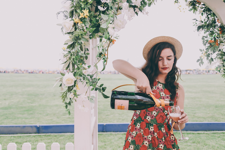 veuve clicquot polo classic fashion blogger anja tufina magnum bottle