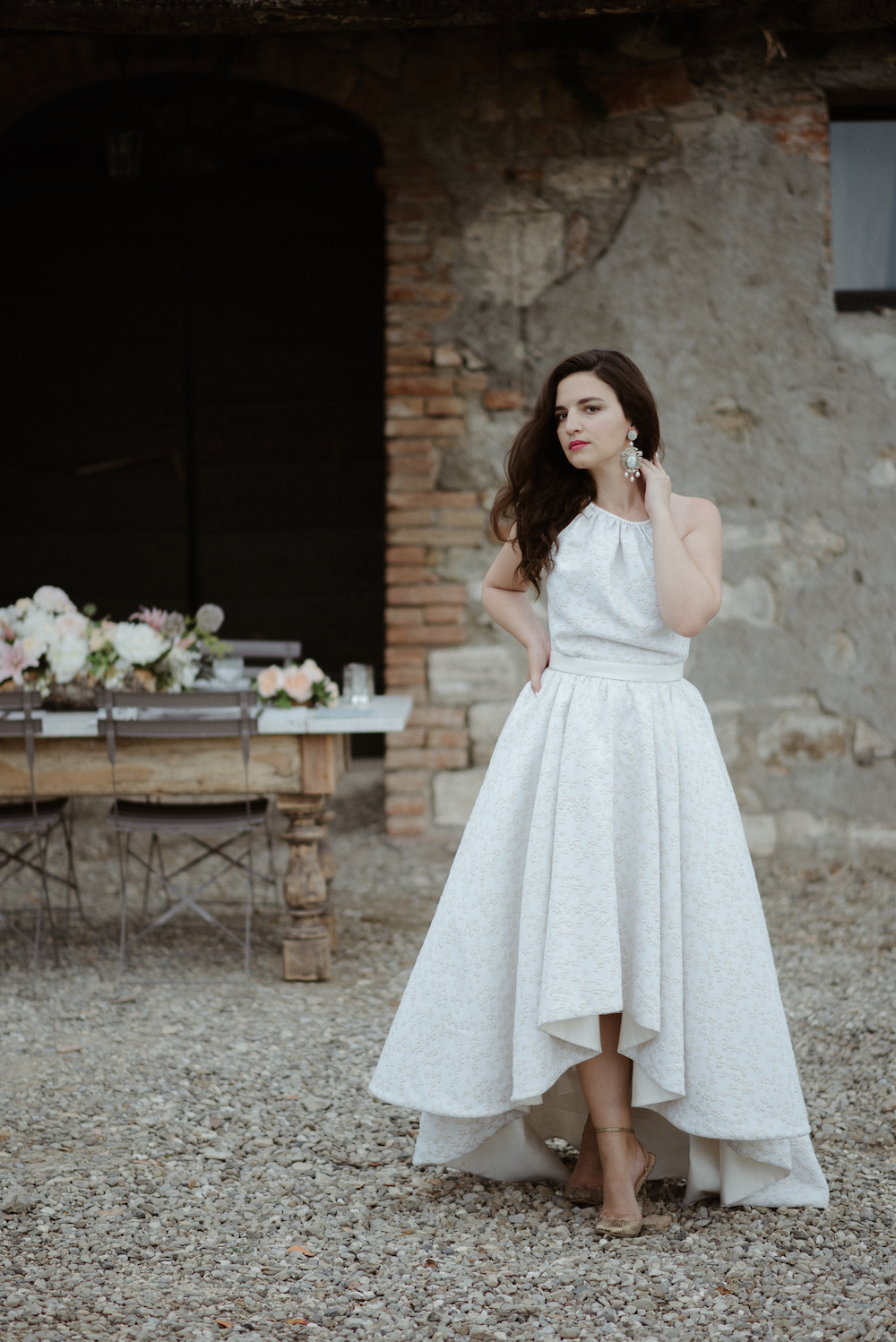 Fashion Blogger Wedding Tuscany Hairstylist Frank Giacone