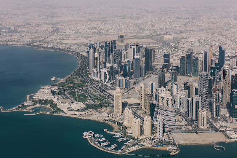 doha from the airplane travel blogger